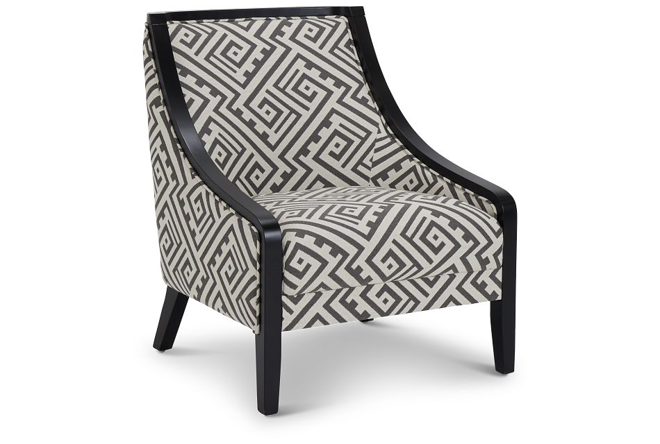 Tribeca2 Multicolored Fabric Accent Chair,  (1)