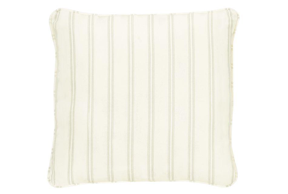 """Espadrille Light Green 18"""" Indoor/outdoor Accent Pillow"""