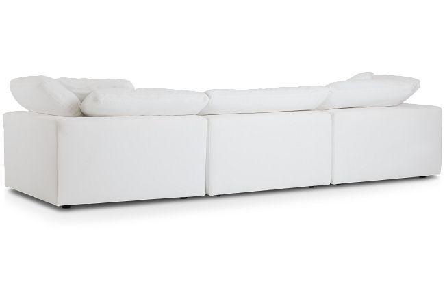 Nixon White Fabric Sectional
