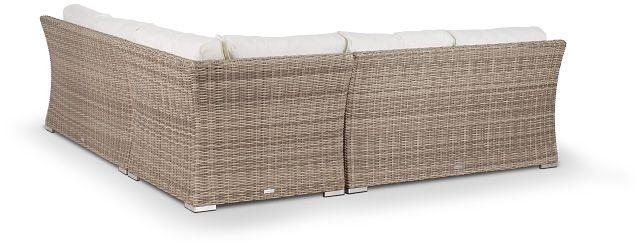 Raleigh White Woven Small Two-arm Sectional (3)
