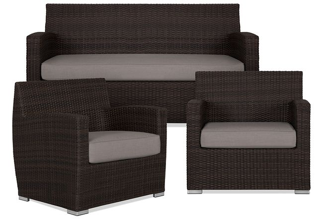 Grate Gray Outdoor Living Room Set