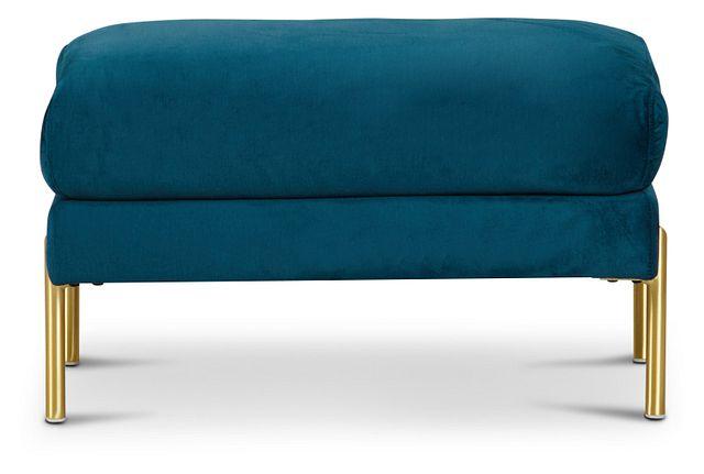Bella Dark Blue Velvet Ottoman (3)