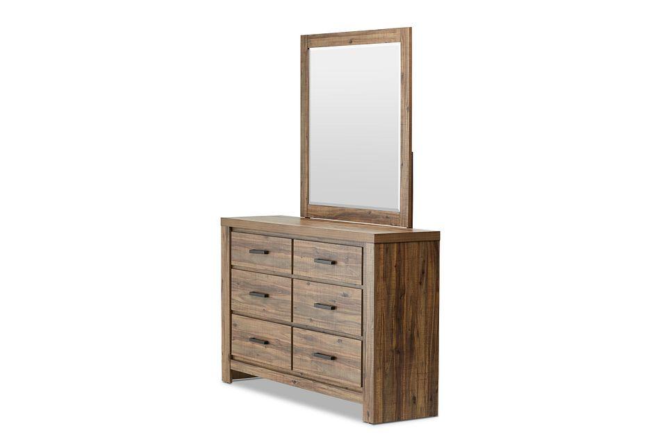Forest Light Tone Dresser & Mirror