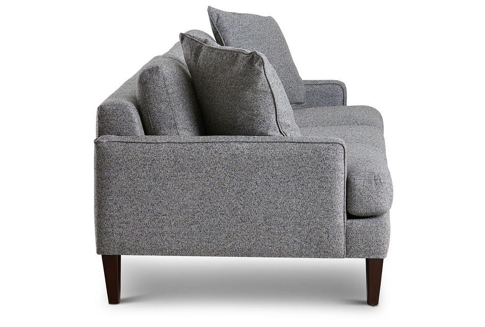Morgan Dark Gray Fabric Sofa With Wood Legs