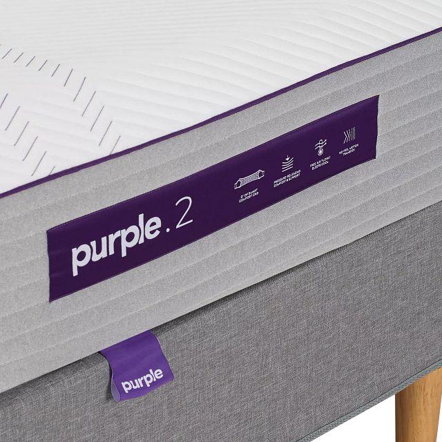 Purple Hybrid Mattress Set (2)