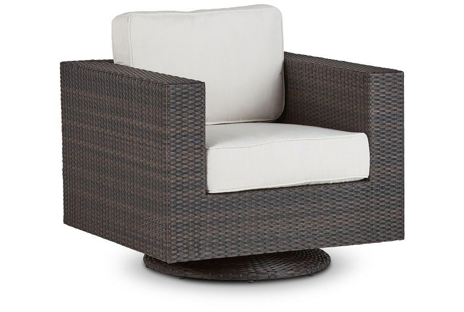 Fina White Swivel Chair