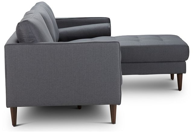 Rue Gray Fabric Right Chaise Sectional (3)