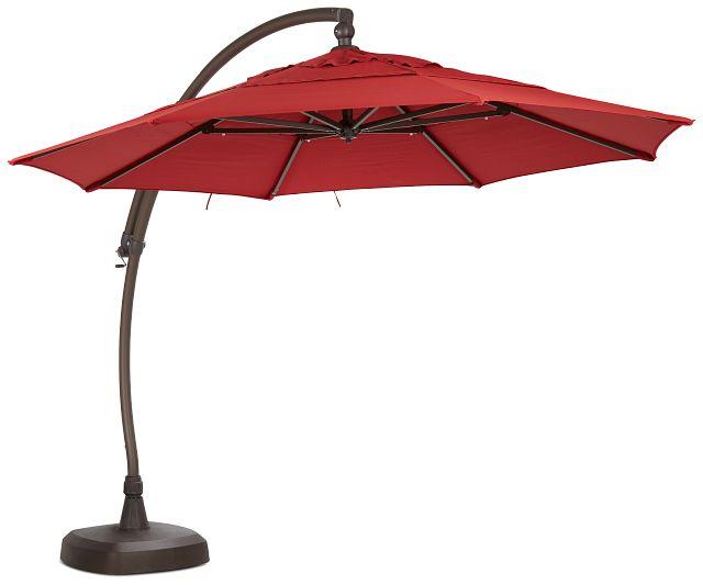 Cayman Red Cantilever Umbrella Set (2)