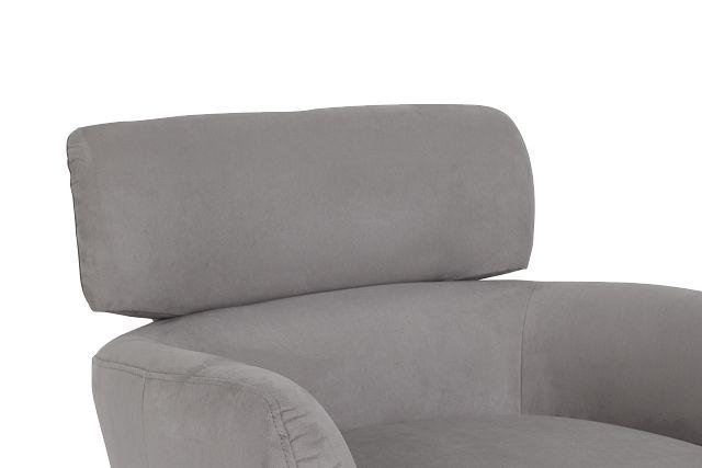 Wynn Light Gray Micro Swivel Accent Chair (0)