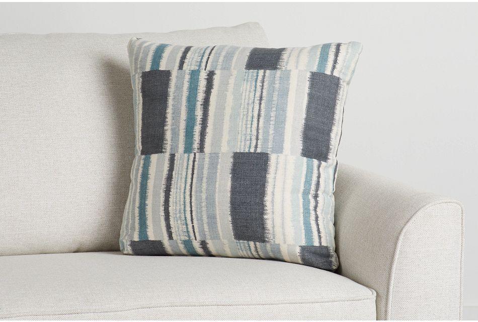 """Seydou Dark Blue Fabric 20"""" Accent Pillow,  (0)"""