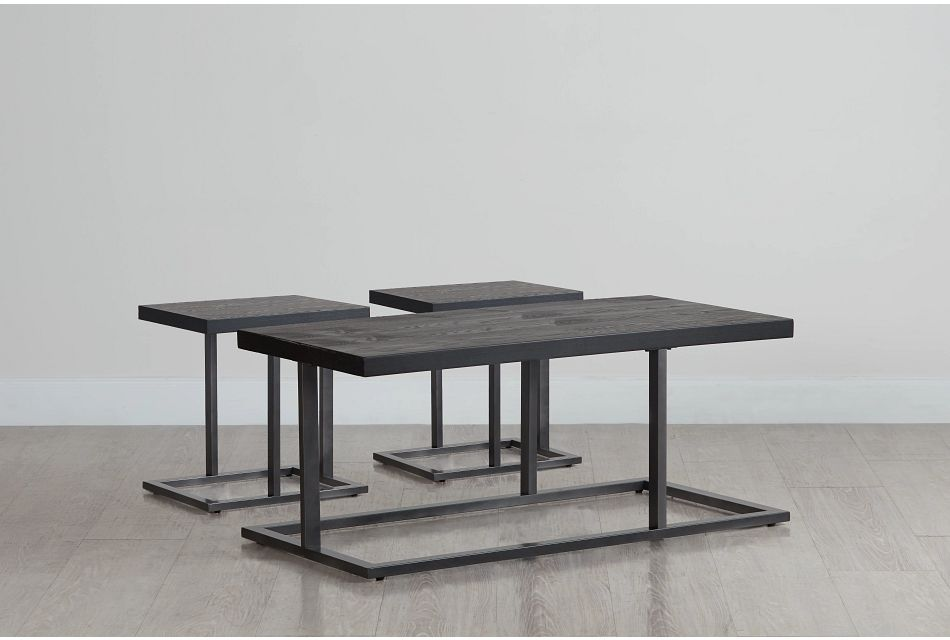 Malcolm Black 3 Pack Tables