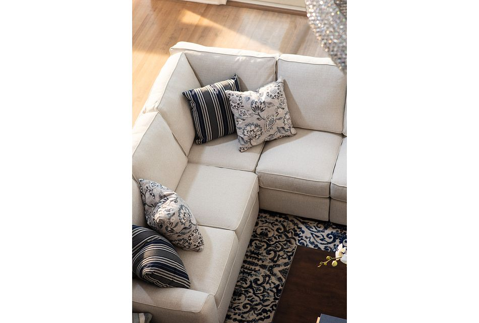 Austin WHITE FABRIC Large Two-Arm Sectional