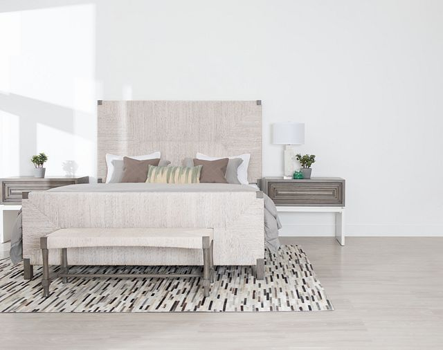 Palma Light Tone Woven Panel Bed