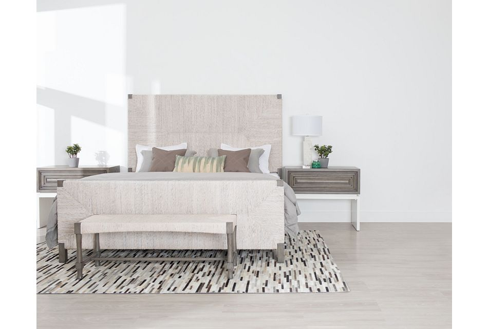 Palma Light Tone Woven Panel Bed