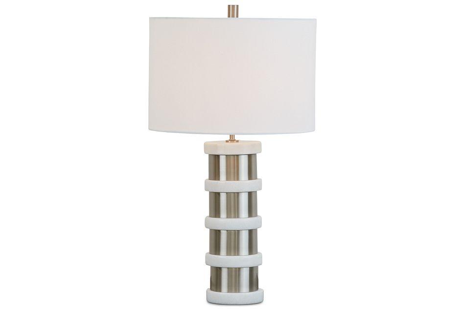 Alessia Silver Table Lamp