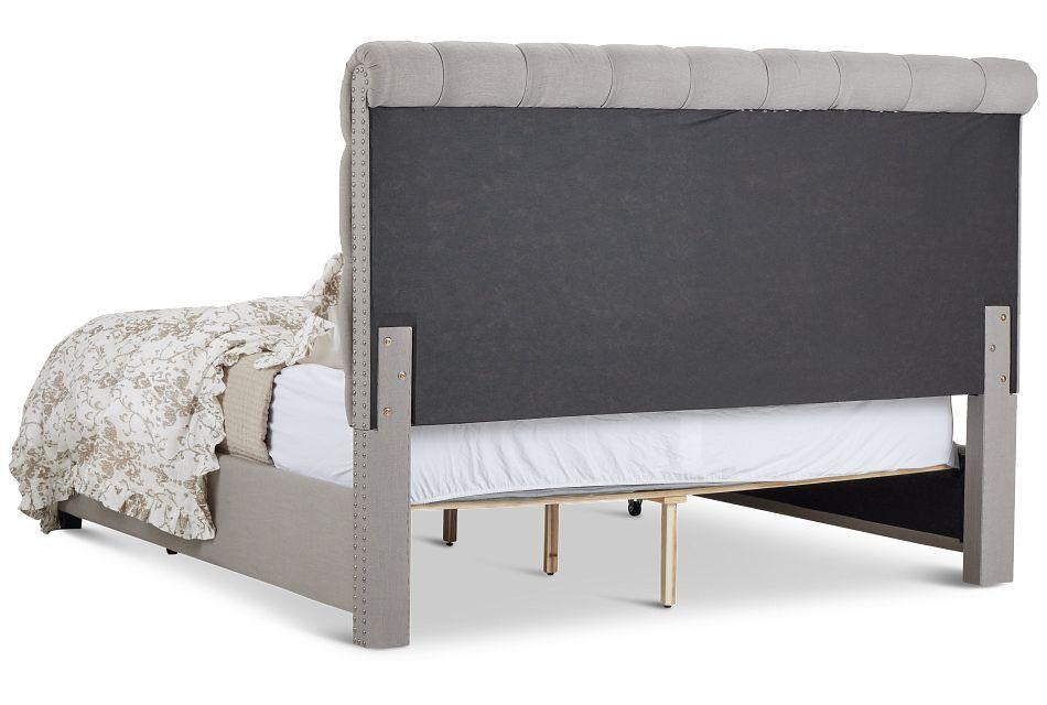 Durham Gray Uph Platform Storage Bed