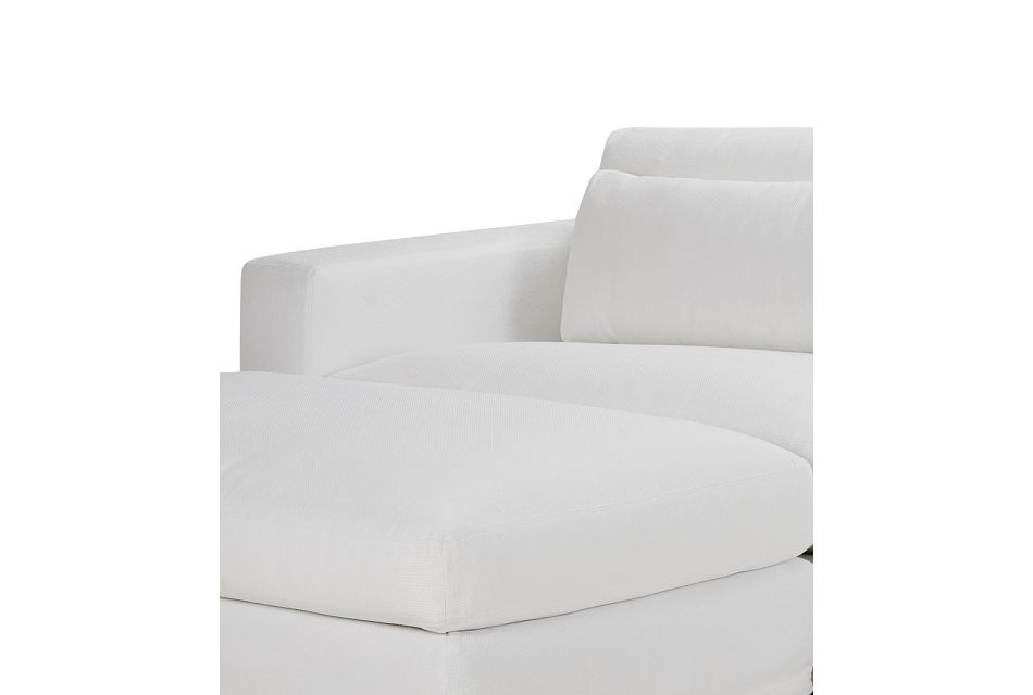 Cozumel White Fabric 4-piece Chaise Sectional