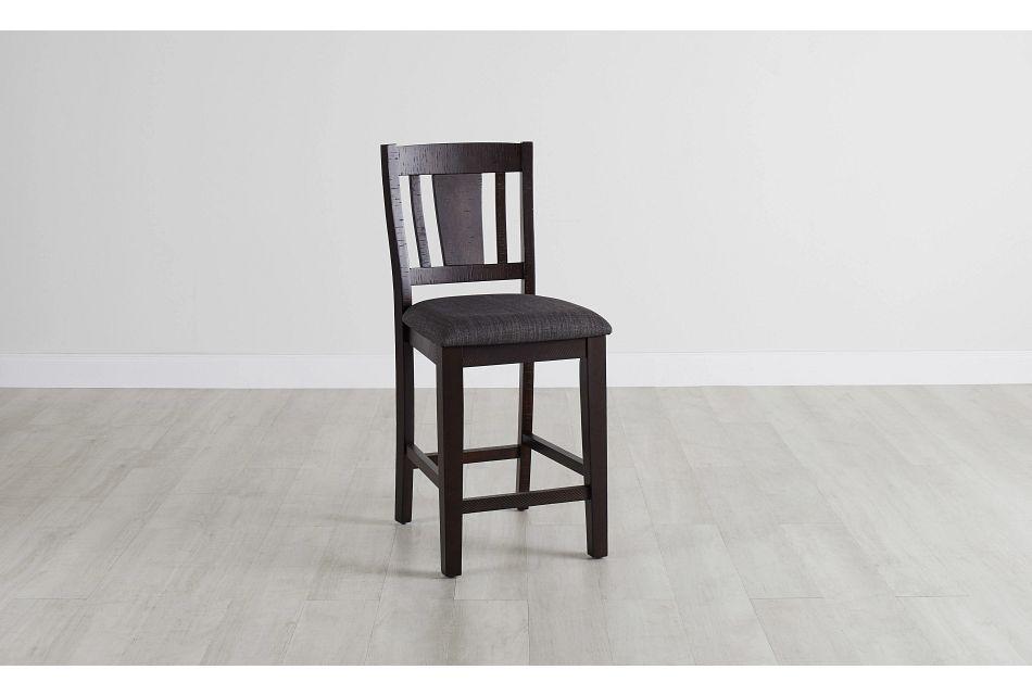 """Cash Gray 24"""" Upholstered Barstool,  (0)"""