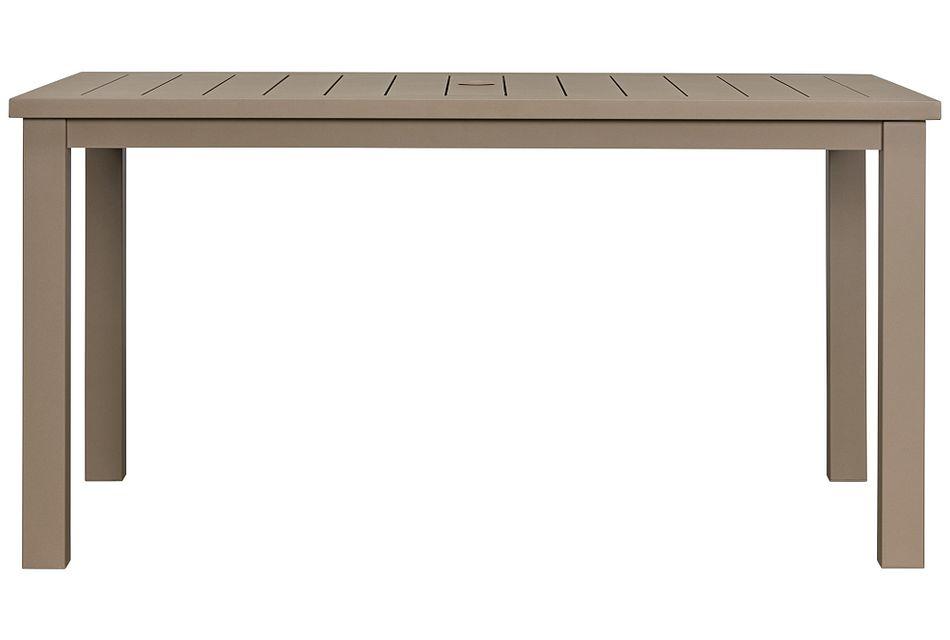 "Raleigh Taupe 58"" Rectangular Table,  (0)"