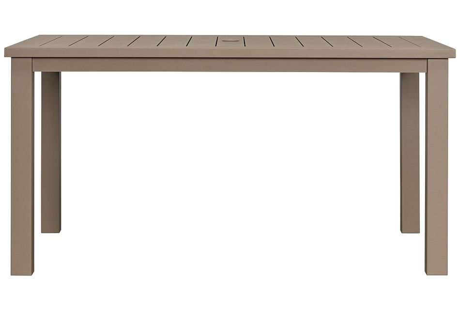 "Raleigh Taupe 58"" Rectangular Table"