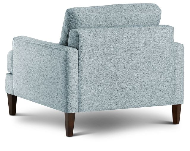 Morgan Teal Fabric Chair With Wood Legs