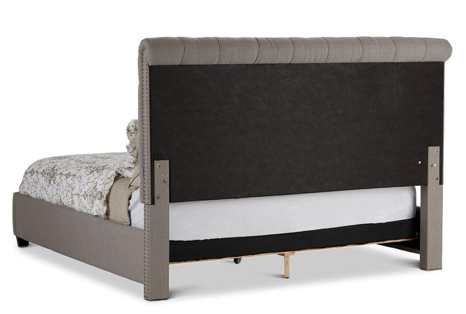 Durham Gray Uph Platform Bed