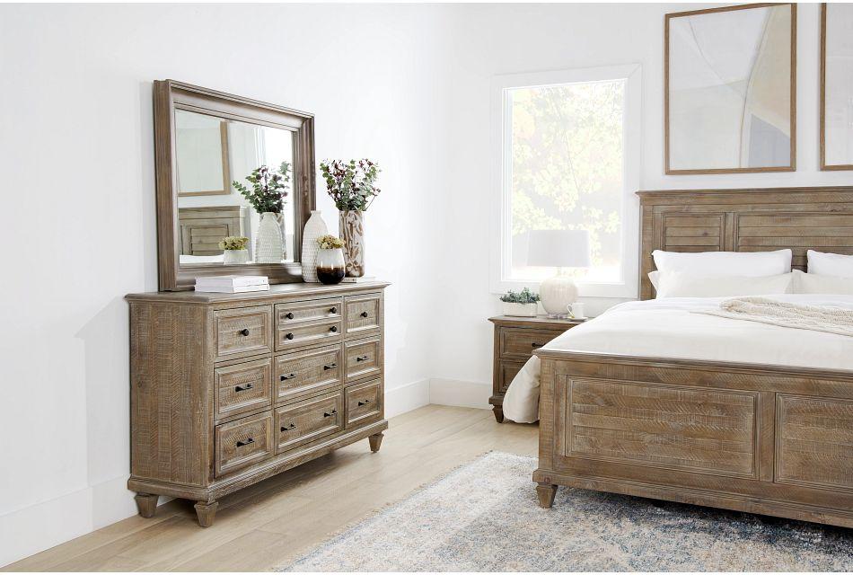 Sonoma Light Tone Dresser & Mirror,  (1)