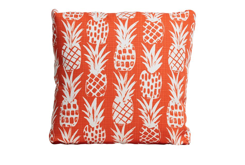 """Pineapple Orange 18"""" Indoor/outdoor Accent Pillow"""