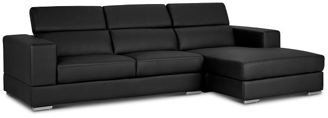 Maxwell Black Micro Right Chaise Sectional (2)