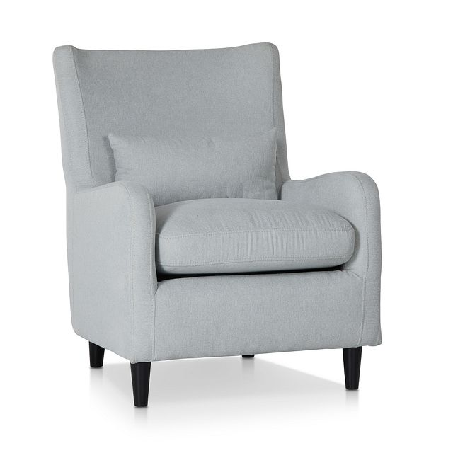 Fremont Light Blue Fabric Accent Chair (1)