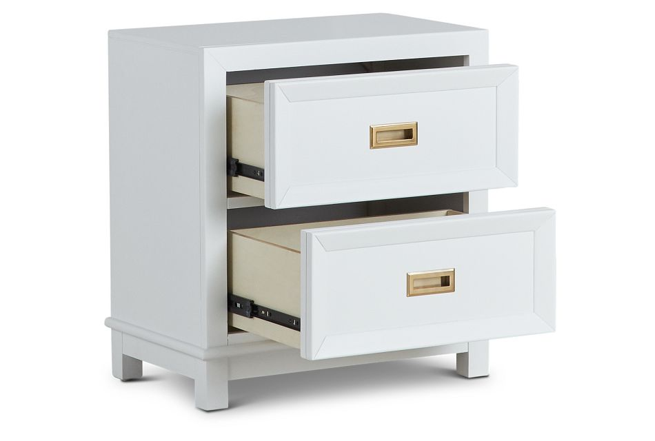Ryder White 2-drawer Nightstand