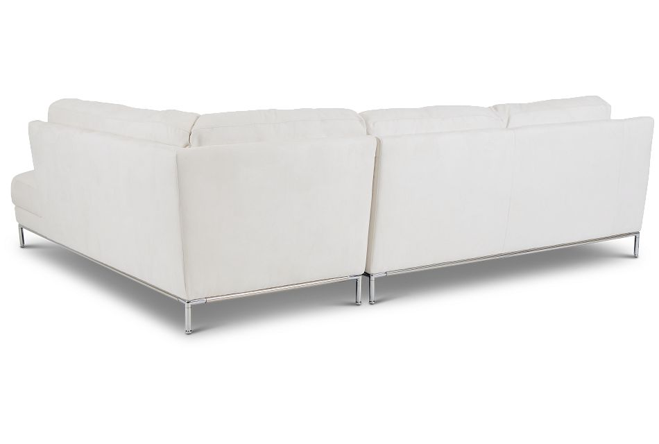 Wynn White Micro Right Chaise Sectional,  (2)