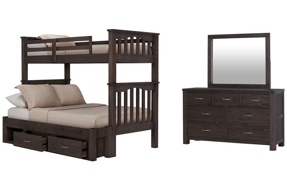 Highlands Dark Tone Bunk Bed Storage Bedroom