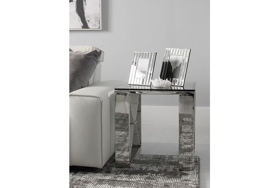 Mavis Glass End Table
