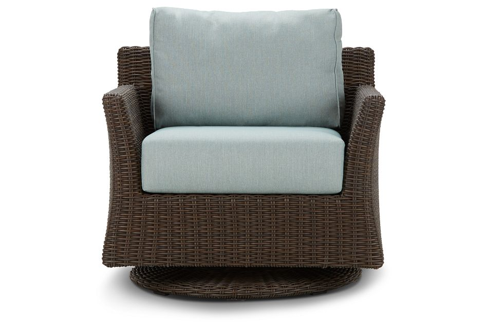 Southport Teal Swivel Chair