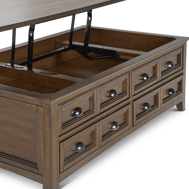 Heron Cove Mid Tone Lift Coffee Table