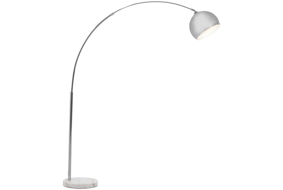 Imanni Silver Arc Floor Lamp