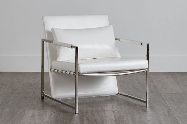 Russell White Uph Accent Chair (0)