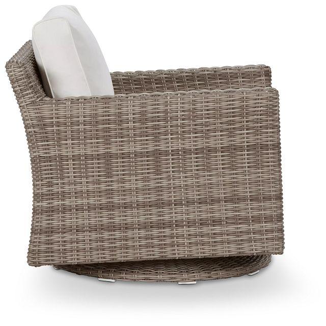 Raleigh White Swivel Chair (1)