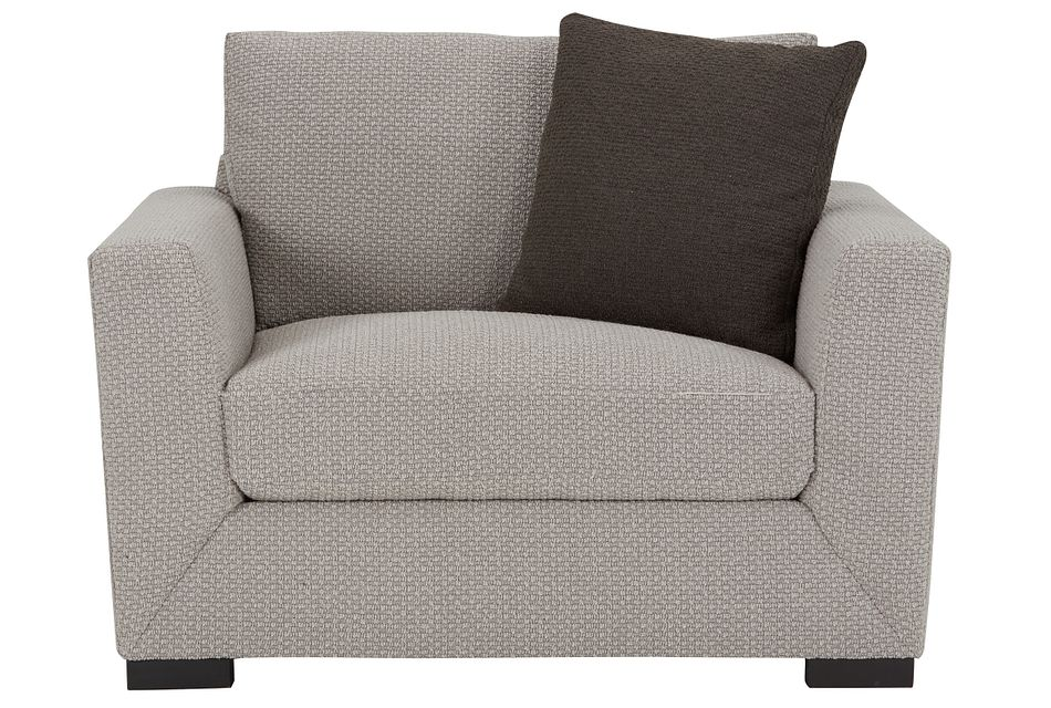 Nicolette Light Gray Fabric Chair