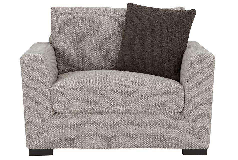 Nicolette Light Gray  Fabric Chair,  (1)