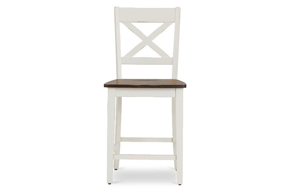 "Sumter White 24"" Wood Barstool,  (3)"
