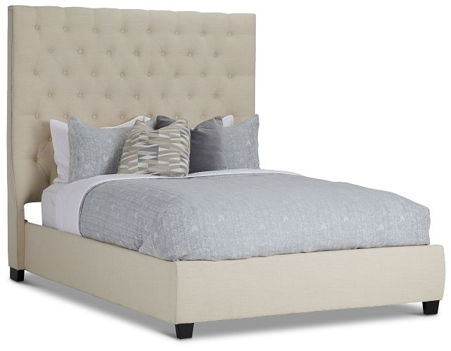 Rylee Beige Uph Platform Bed (1)
