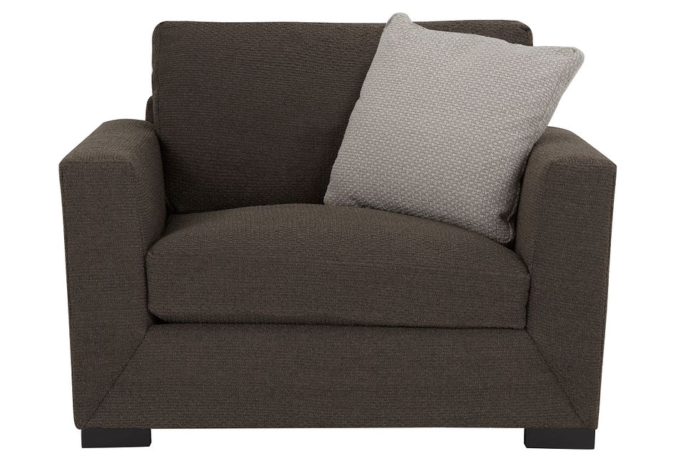 Nicolette Dark Gray Fabric Chair