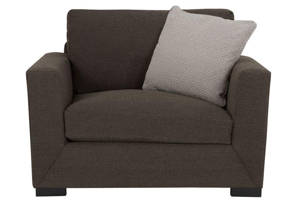 Nicolette Dark Gray  Fabric Chair,  (1)