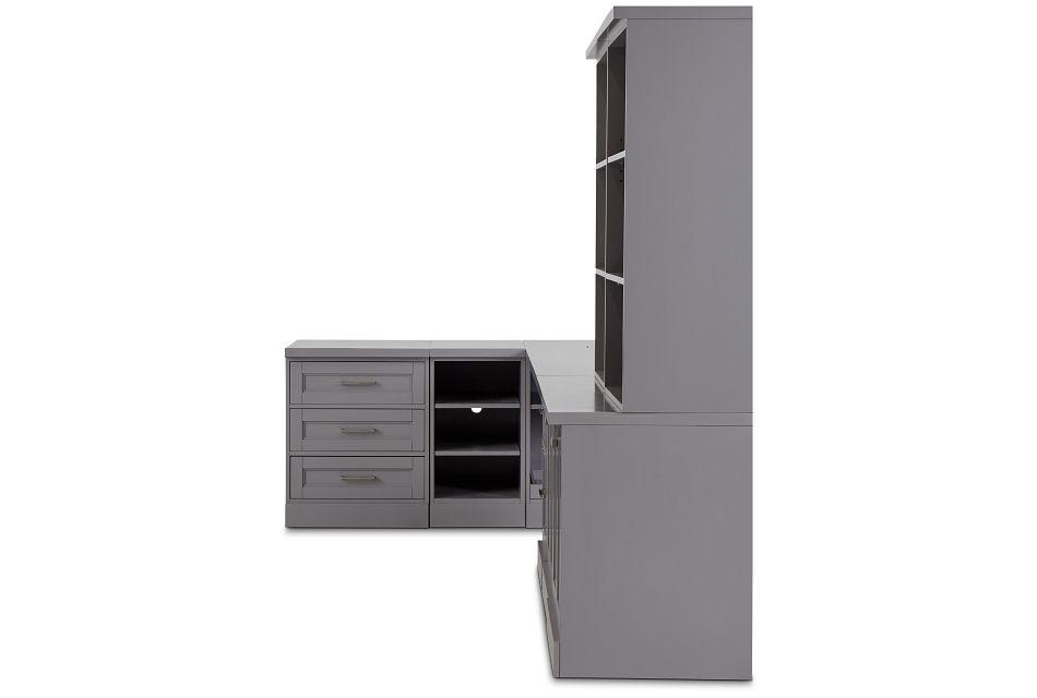 Newport Gray 5 Piece Desk,  (1)