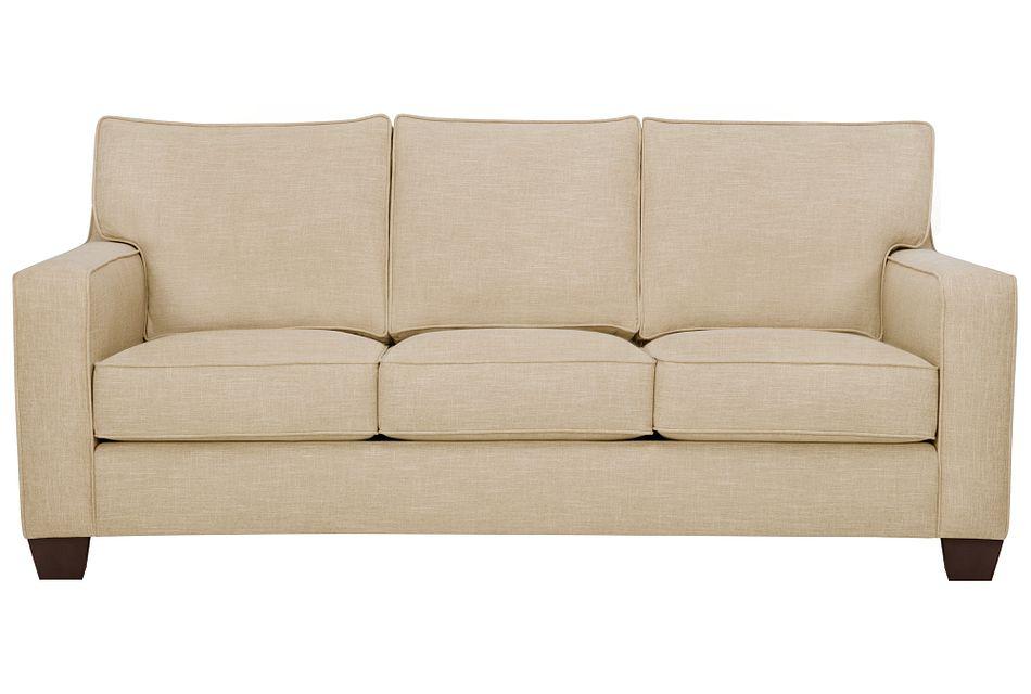 York Beige Fabric Sofa