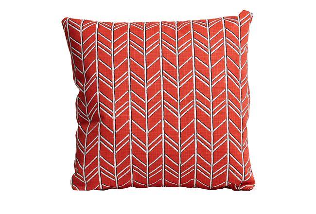 "Bogatell Orange 20"" Indoor/outdoor Accent Pillow"