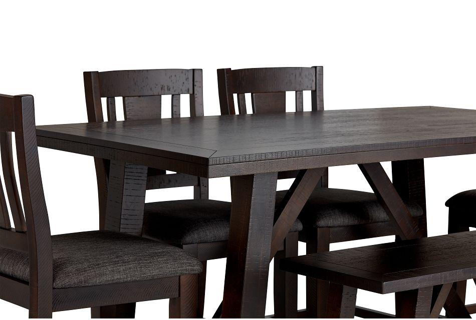 Cash Gray High Table, 4 Barstools & High Bench