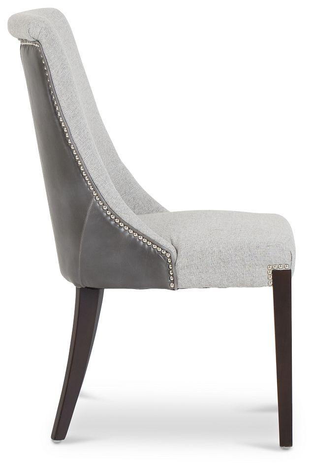 Brynn Light Gray Micro Side Chair (3)